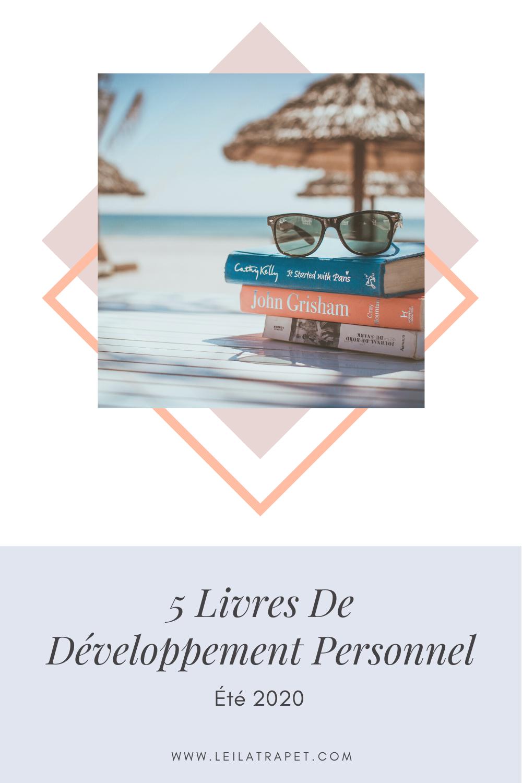 Leïla.T #MYFBL - été 2020 : 5 livres de développement personnel 1